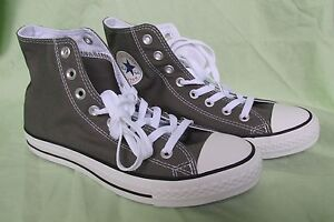 New Converse All Star Classic Chuck Taylor High Top Charcoal Gray Men 7.5, W 9.5