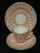 ANTIQUE c.1890 WILEMAN 'Victoria' shape gothic tea cup trio ~ pre Shelley