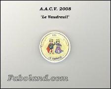 Fève ASSIETTE ROI ET REINE  A.A.C.V. VAUDREUIL  PP1419
