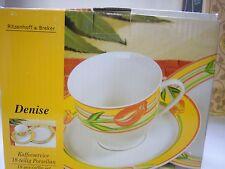 NEW  KAFFEE SERVICE COFFEE CUPS, SAUCERS, PLATES  18 PC SET RITZENHOFF & BREKER