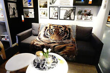 """50""""X60"""" throw blanket tapestry woven afghans wall hanging cotton decor tiger NEW"""