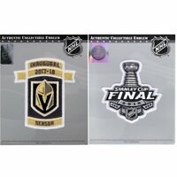 2018 Stanley Cup Final & NHL Vegas Golden Knights Inaugural Season Patch Combo