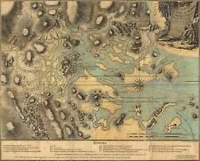A4 Reprint of Map 1776 French Port Et Havre Boston USA & Coasts