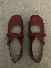 Clarks Womens Shoes Size 7 Red Leather New