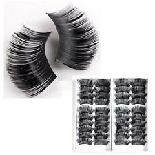 2x 10 pair false eyelashes extra long 2cm eyelash voluminous black makeup e A2A2