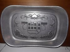 Wilton Armetale Pewter Metal Bless This House Plate/Bowl Display