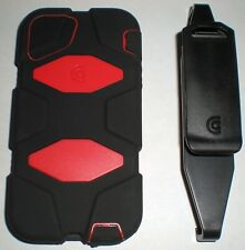 Griffin Survivor Military Rugged Case iPhone 5/5s/SE, with clip, Red & Black