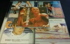 ROBBIE WILLIAMS CD SINGLES ROCK FREEDOM ETERNITY REGRETS FREE POSTAGE