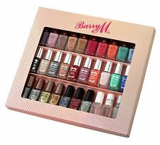 Barry M 30 Nail Polish Set Gel Coat Top Nails Colours Varnish NEW UK