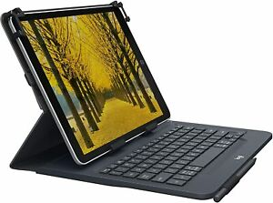 "Logitech Universal Folio Tablet Keyboard Cover Case 10.5"" iPad Tablet 920-008334"