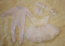 Set of Reborn Doll Baby 's Girl Clothes for 22'' Newborn Baby without Doll