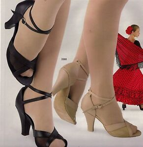 Latin Ballroom shoes open toe Sandal #3580 Suede leather & mesh strappy