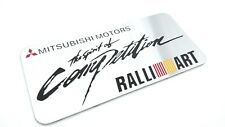 Mitsubishi Ralliart The Spirit of Competition Emblem Badge Aluminum Sticker