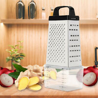 Stainless Steel Manual Cheese Vegetable Grater Box 4 Sided With Container Box