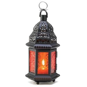Amber Moroccan Candle holder Lantern Lamp