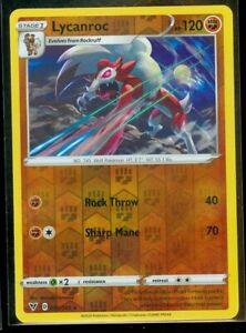 Pokemon LYCANROC 095/185 Vivid Voltage - RARE Rev Holo - - MINT