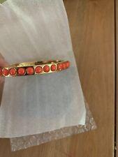Jcrew Mini Gumdrop Stone Hinge Bracelet Bright Cerise/Orange NEW