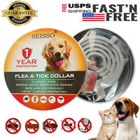 DEWEL Seisso Flea And Tick Control Collar for Medium Large Dog 1 Year Protection