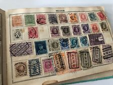 Old Used Mixed Stamps In Album Vintage Hundreds USA Europe Postage Envelope Cut