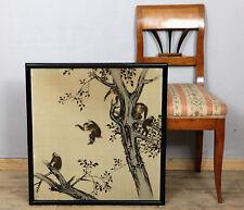 CHINA AFFEN IM BAUM ANTIK WEBBILD GOBELIN old chinese tapestry monkeys tree
