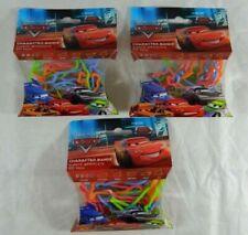 3 Packs Disney Pixar CARS Character Shape Silly Bandz Elastic Bracelets McQueen