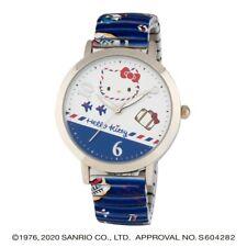 Sanrio Hello Kitty Wrist Watch Analog Blue Airplane Travel Bellows HK-A1671