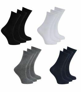 12 Pairs Kids Girls Boys Plain Cotton Ankle Cotton School Uniform Socks All Size