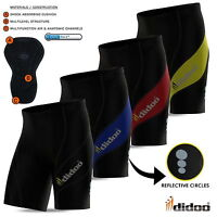 Didoo Mens Cycling Shorts Bike pants body compression Lycra Coolmax Leg gripper