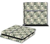 MONEY PS4 Skin Vinyl Decal PlayStation 4 Designer Sticker 100 Dollar Bills 209