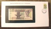 Banknotes of All Nations Ghana 1982 2 Cedis  P-18d UNC Prefix BG