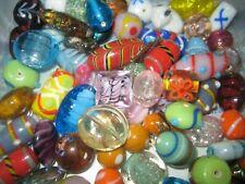 Glasperlen Mix/Perlen Mix  250g bunte Mischung Lampwork Perlen/SILBERFOLIE PERLE