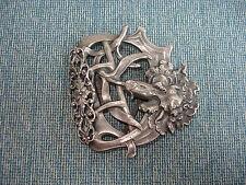 Boucle de ceinture 1900 Décor d' Oeillet Art Nouveau