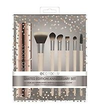 New Ecotools Limited Edition 10 Year Anniversary Make Up 6 Brush Set & Holder