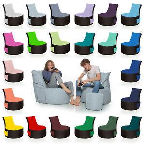 HomeIdeal - 2Farbiger Gamer Sitzsack Lounge Bodenkissen für Erwachsene & Kinder