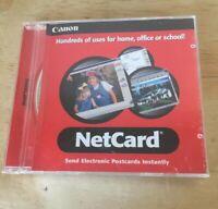 Canon NetCard Net Card PC Computer Software Program CD-Rom