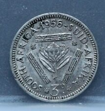 Zuid Afrika South Africa 3 three Pence 1956 Silver