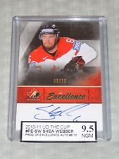 10-11 The Cup Shea Weber Programme of Excellence Auto 6/10 1/1 His JSY # KSA 9.5