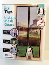 """NEW Instant Door Mesh Screen Guard with Auto-Snap Magnetic Closure 39"""" × 79"""""""