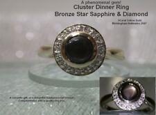 Diamond Sapphire Round Yellow Gold Fine Rings
