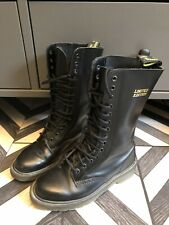 Doc Dr Martens Limited Edition 1914 Calf High Classic Black Leather Boots Size 6