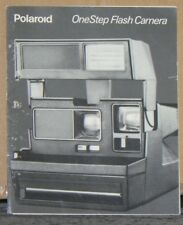 Polaroid On Step Flash Camera Instruction Booklet