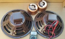 "Vintage Jensen P12 RL L-F 12"" 16 Ohms Bass Woofer Speakers Pair Exct"