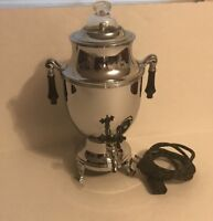 "Royal Rochester Robeson Corporation Working Chrome Percolator Coffee Pot 13"" C33"