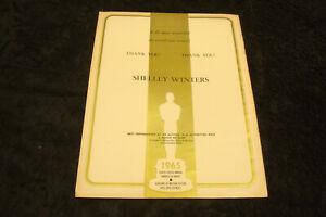 SHELLEY WINTERS, A PATCH OF BLUE 1965 Oscar ad, MARTIN BALSAM, A THOUSAND CLOWNS