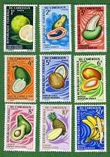 Cameroun 9 stamps, SC 460 - 468, Fruit, 1967,  MNH