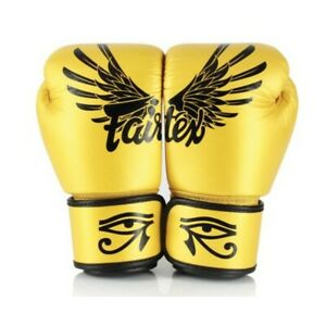 Fairtex Falcon Limited Edition Boxing Gloves - Gold 10oz