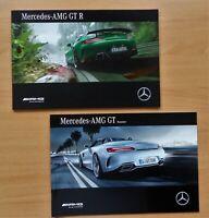 2180) Prospekt brochure 585 PS AMG GT R 09/2016 + AMG GT 4.0 V8 Roadster 09/2016
