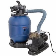"2400GPH 13"" Sand Filter 3/4 HP Above Ground Swimming Pool Pump intex compatible"