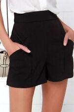 Women's Leather Solid High Waist Dress Shorts | eBay