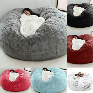 Microsuede 7FT Foam Giant Bean Bag Memory Living Room Sofa Chair Furniture Cover